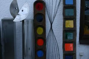 Edelstahlpaar, aus Edelstahl geschweißt, Höhe ca. 125 cm