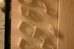 aus lackierten alten Trennscheiben