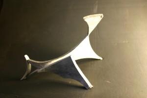 aus verzinntem Stahl geschweißt, Höhe ca 15 cm