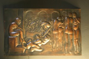 aus Kupferblech getrieben, Größe ca 30 x 20 cm