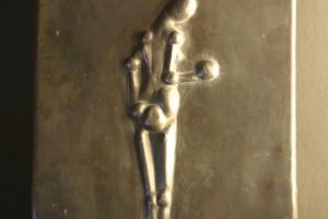 aus Bleiblech getrieben, Größe ca. 20 x 30 cm