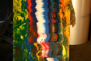 aus Acrylfarben gespachtelt