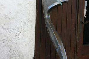 Aus Stahlblech geschweißt Höhe ca 160 cm