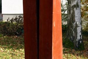 Aus Stahl geschweißt, oxidiert, Höhe 160 cm