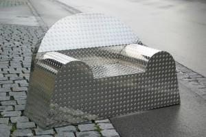aus Aluminium-Tränenblech geschweißt, Breite 160 cm