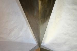 aus Edelstahlblech geschweißt, Höhe ca 80 cm