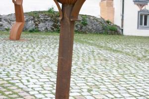 aus oxidiertem Stahl geschweißt Höhe ca. 160 cm