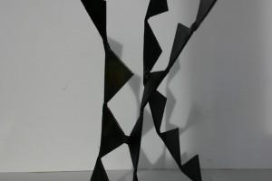 aus gebeiztem Stahl geschweißt, Höhe ca 25 cm