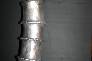 aus Aluminium geschweißt, ca 40 cm hoch