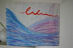 mit Ölkreiden gezeichnet, Größe ca 40 x 30 cm