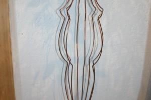 aus Kupferdraht gebogen und hart verlötet Höhe ca. 100 cm