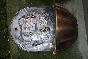 aus Kupferblech und Messing gefertigt, Breite ca 50 cm