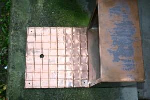 aus Kupferblech gefertigt, Breite ca 45 cm