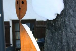 aus Stahlblech geschweißt, Kopf drehbar, Höhe ca 190 cm