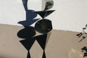 aus poliertem Edelstahl geschweißt, Höhe ca 180 cm