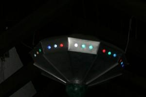 aus Aluminiumblech gefertigt, mit Farbwechsellampen Durchmesser ca 120 cm