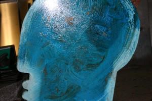 auds Kupferblech geschweißt, patiniert, Höhe ca 35 cm
