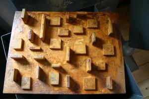 aus oxidiertem Stahl geschweißt Höhe ca 30 cm