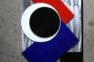 aus lackierten Aluplatten, die geliebig verschoben werden können, mit Foto fixiert